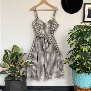 Eloquii Dresses - Gingham full skirt dress